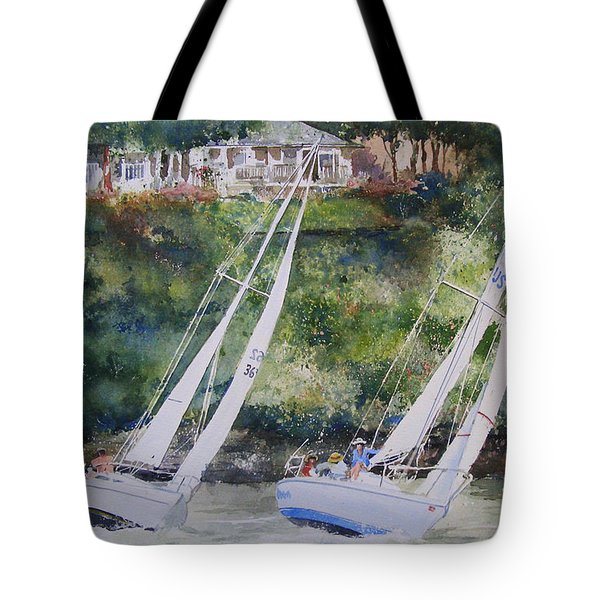 Grand Lake Regatta Tote Bag
