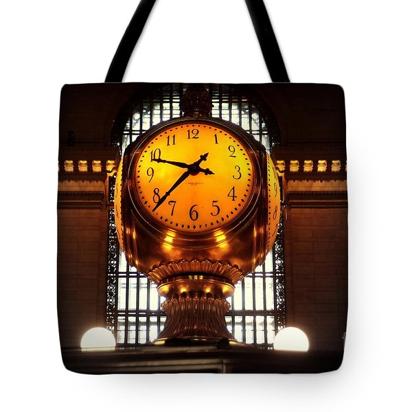 Grand Old Clock At Grand Central Station - Front Tote Bag by Miriam Danar