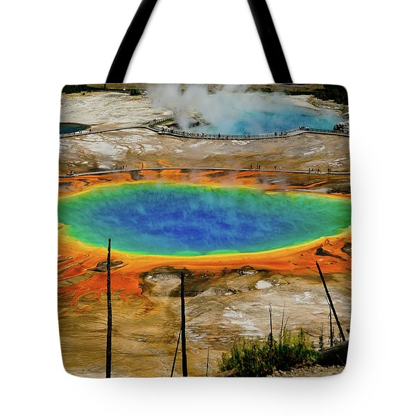 Tote Bag featuring the photograph Grand Prismatic Spring No Border by Greg Norrell