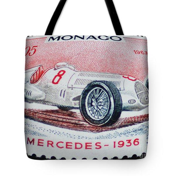 Grand Prix De Monaco 1936 Vintage Postage Stamp Print Tote Bag