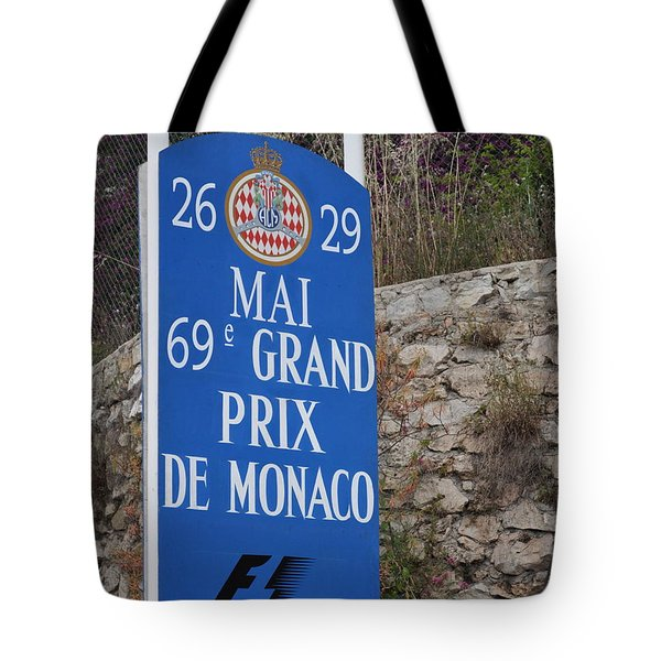 Grand Prix Sign Tote Bag