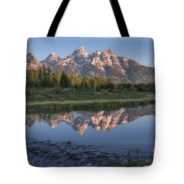 Grand Teton Awakening Tote Bag