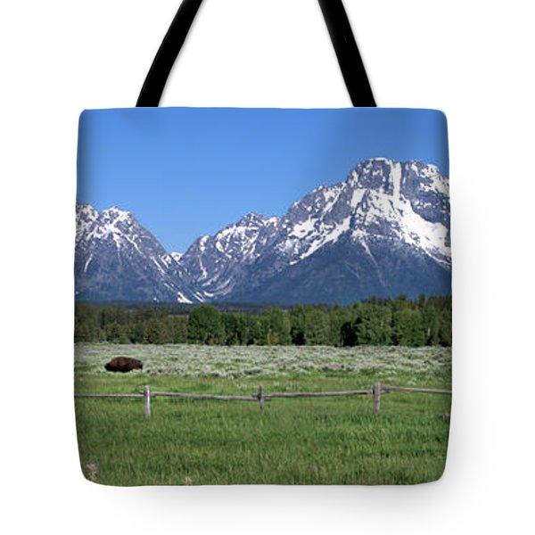 Grand Teton Buffalo Tote Bag by Brian Harig