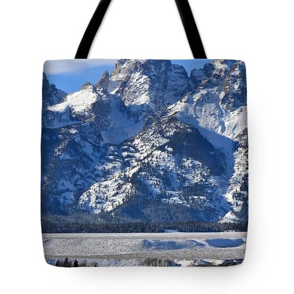 Tote Bag featuring the photograph Grand Teton  by Dorrene BrownButterfield