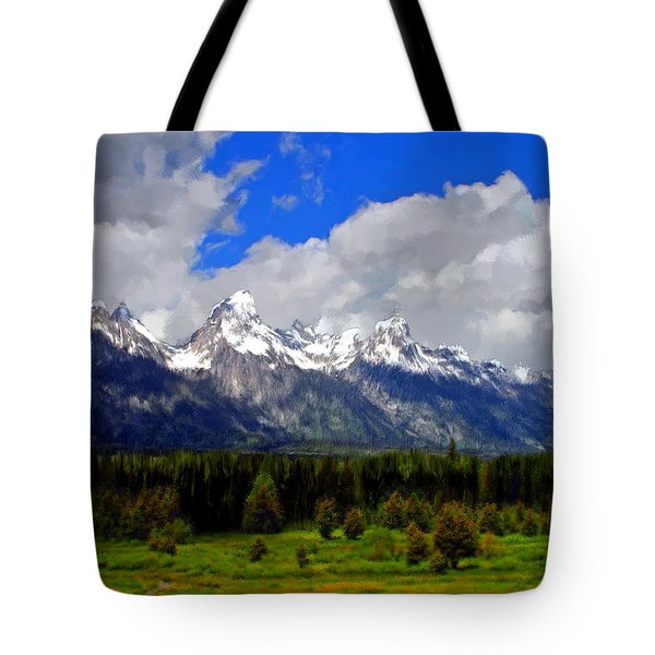 Grand Teton Mountains Tote Bag by Bruce Nutting