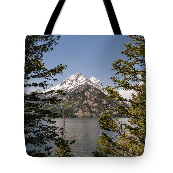 Grand Teton On Jenny Lake - Grand Teton National Park Wyoming Tote Bag