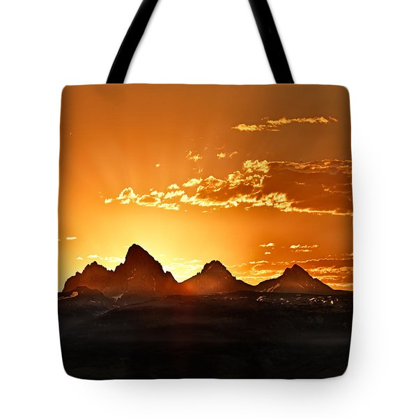 Grand Teton Sunrise Tote Bag