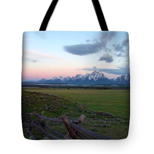 Grand Tetons Before Sunrise Tote Bag by Brian Harig