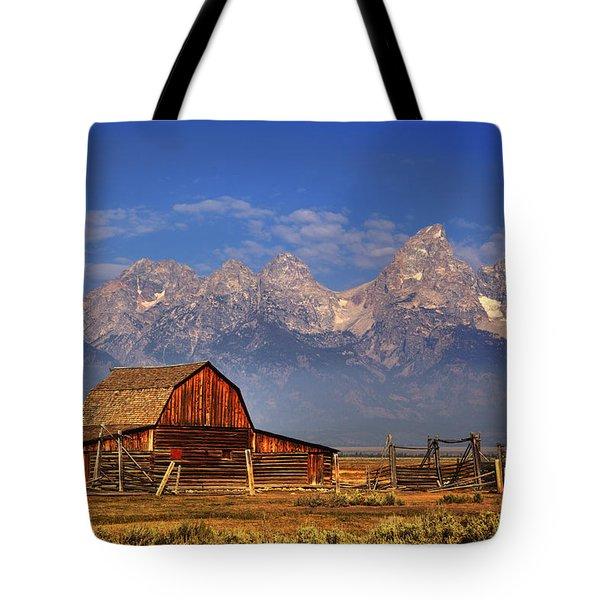 Grand Tetons From Moulton Barn Tote Bag