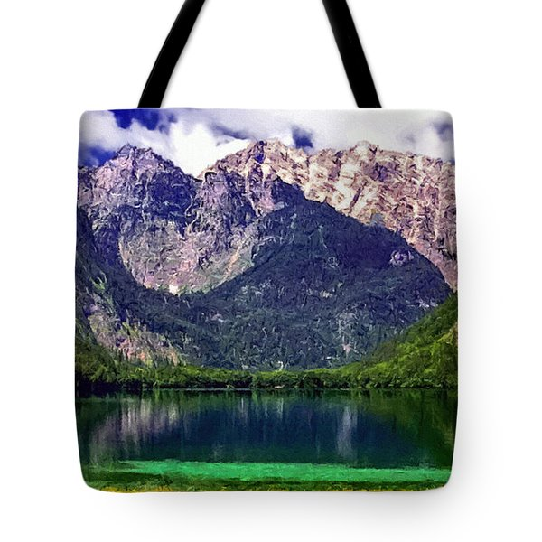 Grand Tetons National Park Painting Tote Bag by Bob and Nadine Johnston