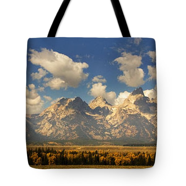 Tote Bag featuring the photograph Grand Tetons by Sonya Lang
