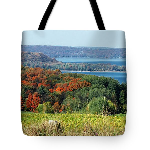 Grand Traverse Winery Lookout Tote Bag by Optical Playground By MP Ray
