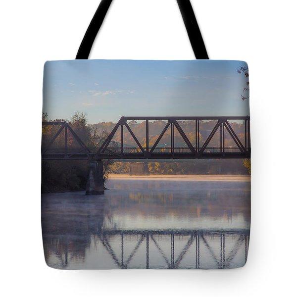 Grand Trunk Railroad Bridge Tote Bag