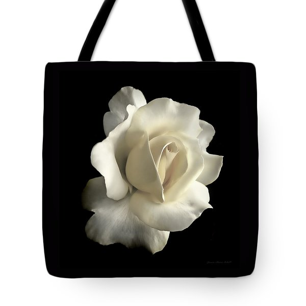 Grandeur Ivory Rose Flower Tote Bag