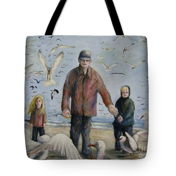 Grandfather Brother And Sister Tote Bag