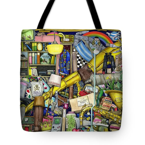 Grandfather's Chest Tote Bag by Colin Thompson