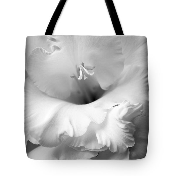 Grandiose Gladiola Flower Monochrome  Tote Bag by Jennie Marie Schell