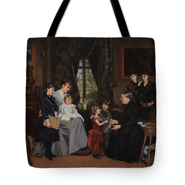 Grandmas Birthday Tote Bag by Louis Edmond Pomey