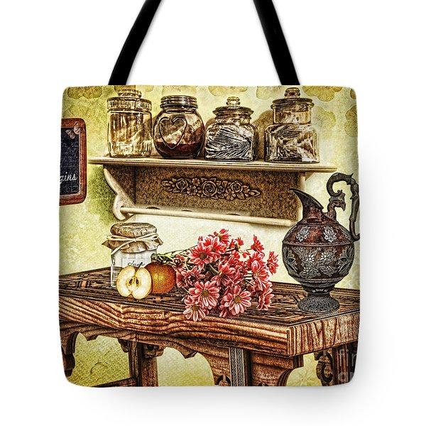 Grandma's Kitchen Tote Bag by Mo T