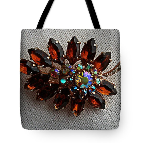 Grandmas Topaz Brooch - Treasured Heirloom Tote Bag by Barbara Griffin