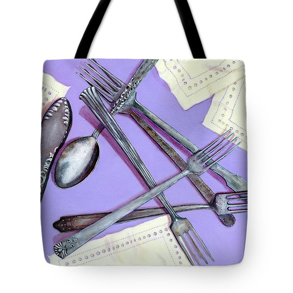 Grandmother's Silver Tote Bag by Karyn Robinson