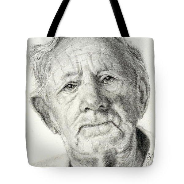 Grandpa Full Of Grace Drawing Tote Bag