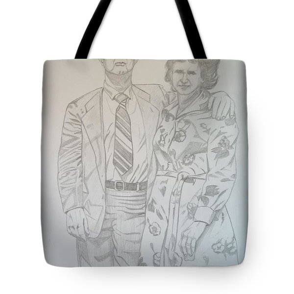 Grandparents Of Late 1970s Tote Bag by Justin Moore