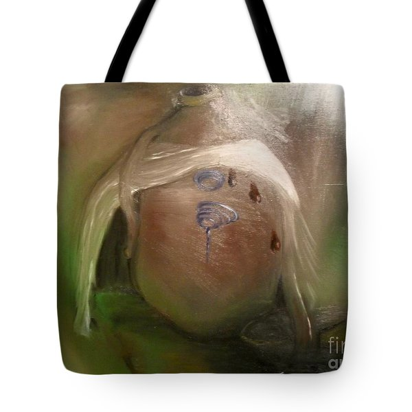 Tote Bag featuring the painting Grandpa's Honey Jug by Laurie Lundquist