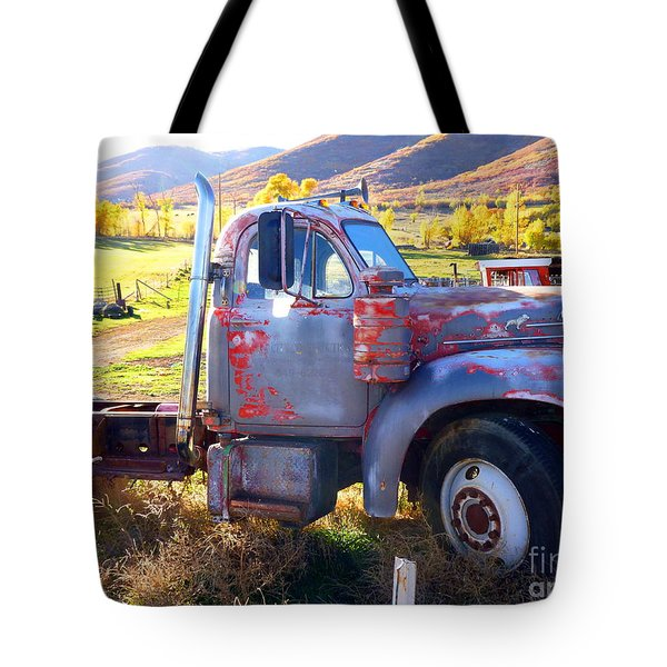 Tote Bag featuring the photograph Grandpa's Mack Truck by Jackie Carpenter