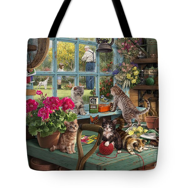 Grandpa's Potting Shed Tote Bag by Steve Read