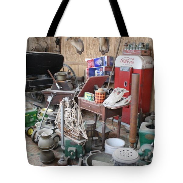 Tote Bag featuring the photograph Grandpop's Garage by Judith Morris