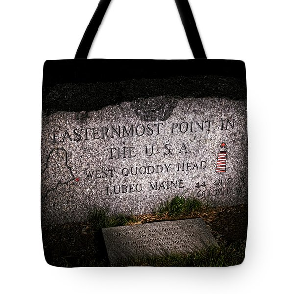 Granite Monument Quoddy Head State Park Tote Bag by Marty Saccone