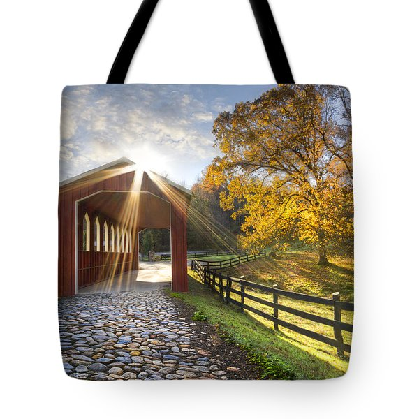 Granny Squirrel Bridge Tote Bag