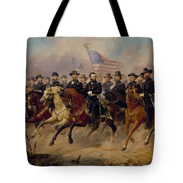 Grant And His Generals Tote Bag