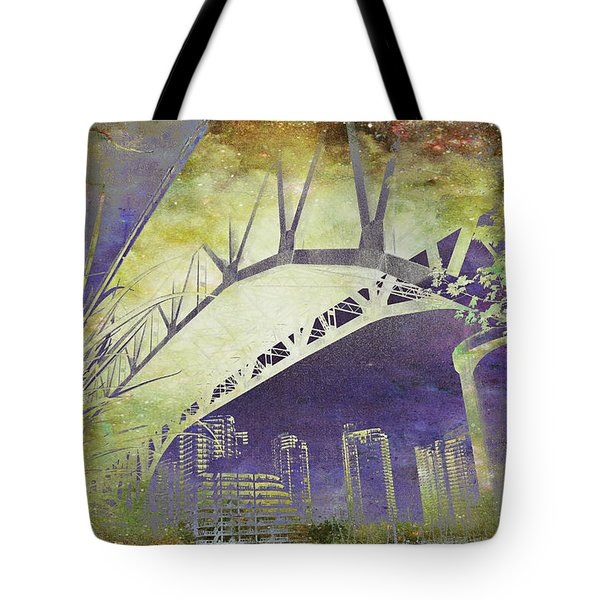 Granville Street Bridge - Inside Out Tote Bag
