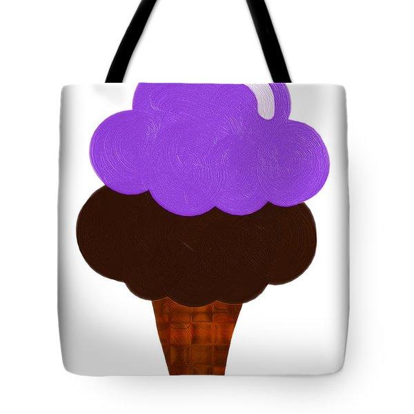 Grape And Chocolate Ice Cream Tote Bag