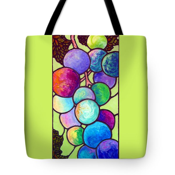 Tote Bag featuring the painting Grape De Chine by Sandi Whetzel