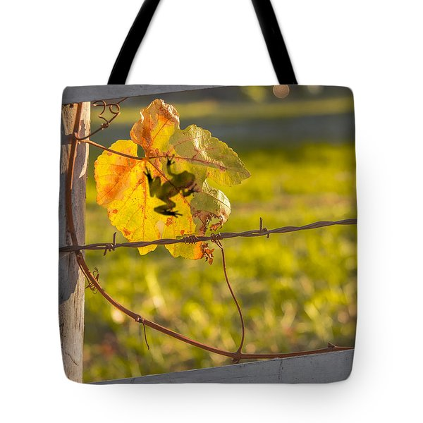 Grape Leaf Frog Tote Bag