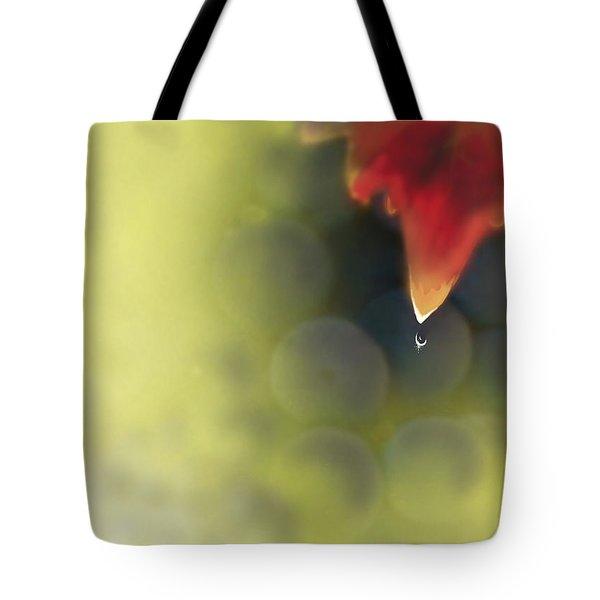 Grape Leaf Water Drop Tote Bag by Kume Bryant