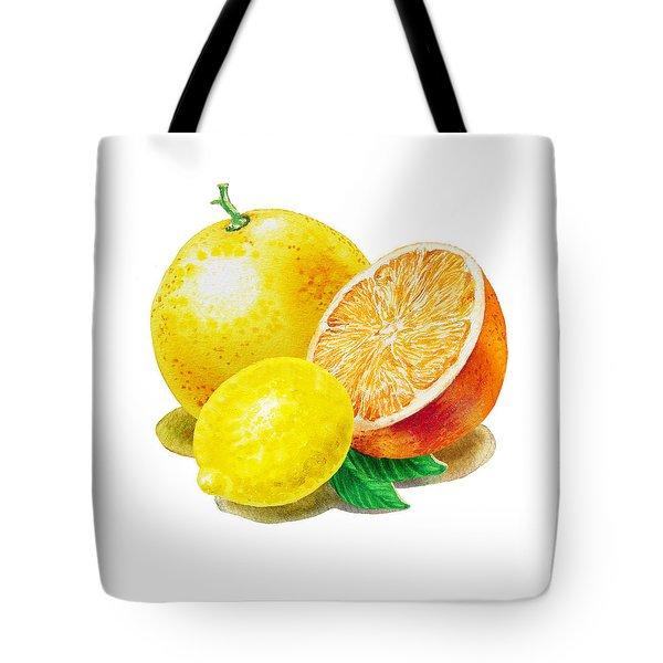 Grapefruit Lemon Orange Tote Bag