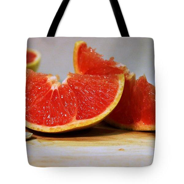 Grapefruit Slices Tote Bag