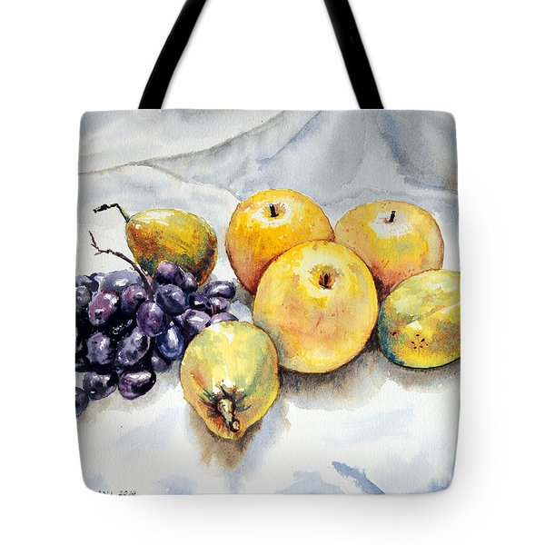 Grapes And Pears Tote Bag by Joey Agbayani