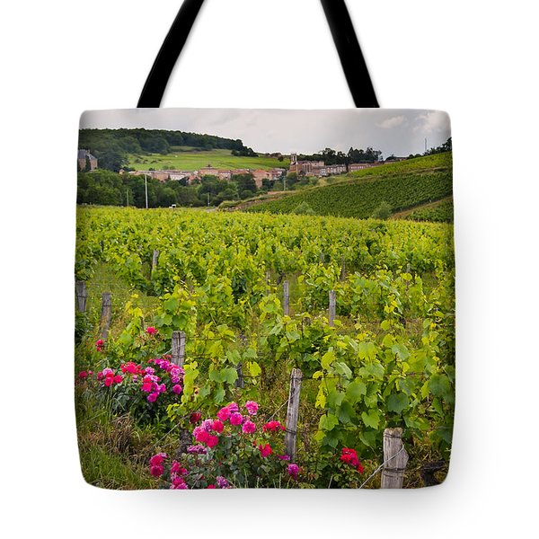Grapes And Roses Tote Bag by Allen Sheffield
