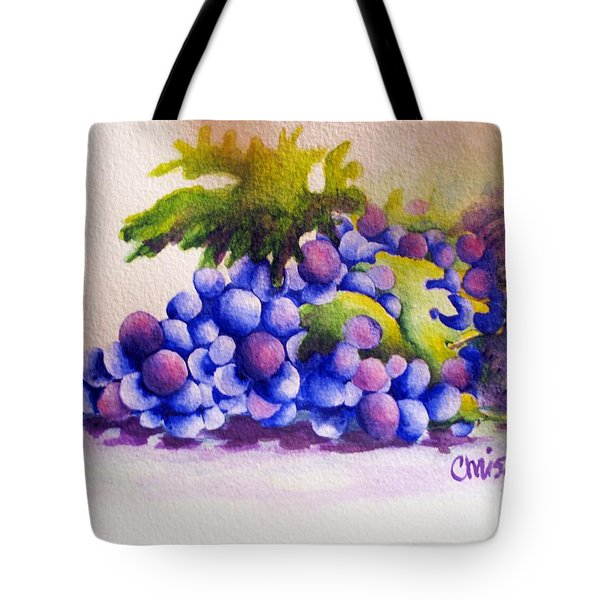 Grapes Tote Bag by Chrisann Ellis