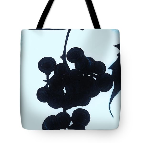 Tote Bag featuring the drawing Grapes by D Hackett
