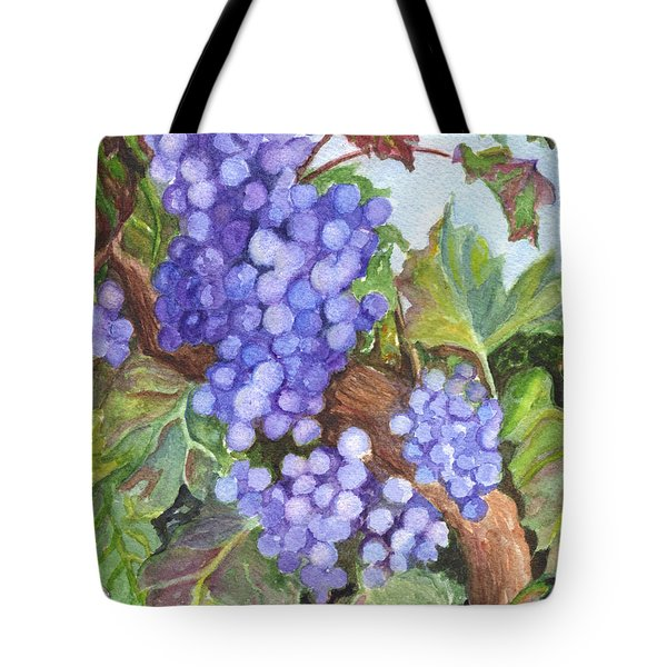 Grapes For The Harvest Tote Bag by Carol Wisniewski