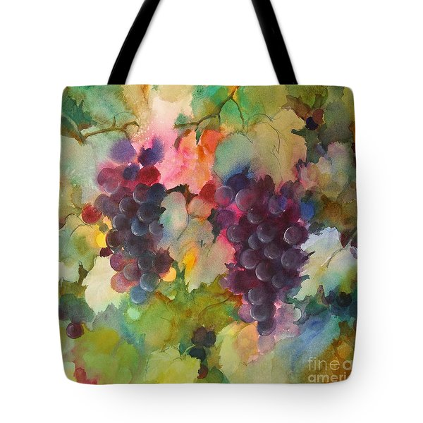 Grapes In Light Tote Bag