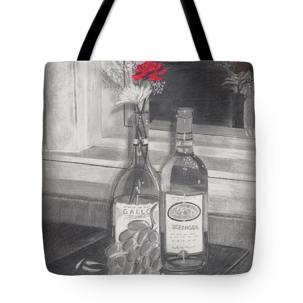 Grapes N Flowers Tote Bag by Susan Schmitz