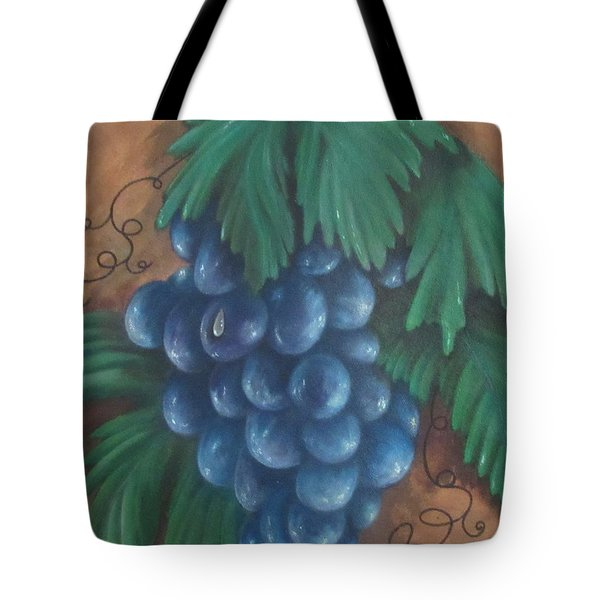 Grapes With Dewdrop Tote Bag