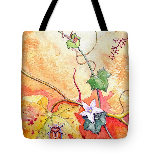 Grapevine Beetle Tote Bag by Katherine Miller